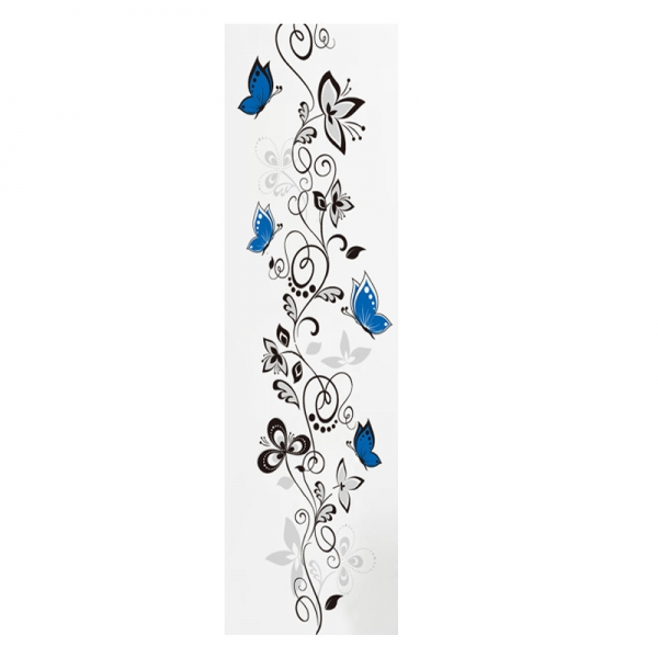 Stickere - Flori si fluturi albastri - 40x120 cm 4