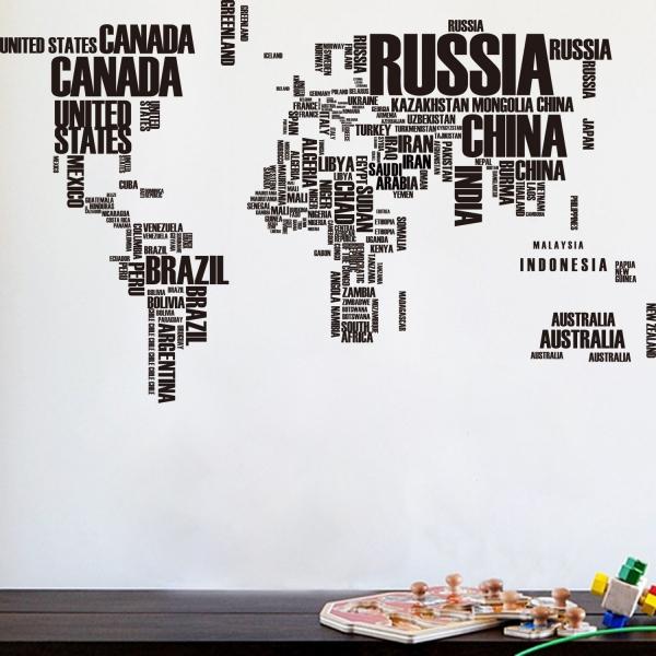 Stickere Harta Lumii - Nume tari [0]