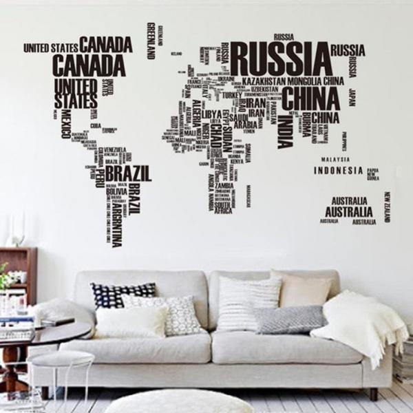 Stickere Harta Lumii - Nume tari [1]