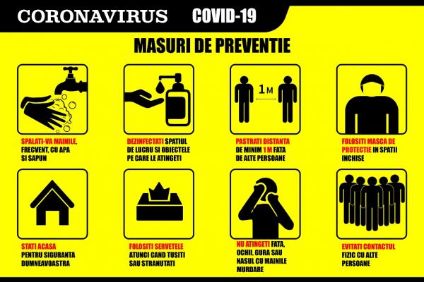 Stickere Masuri Preventie Coronavirus - 60x40 cm 0