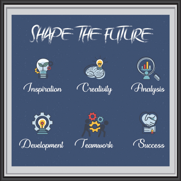 Stickere motivationale - Shape the future 0