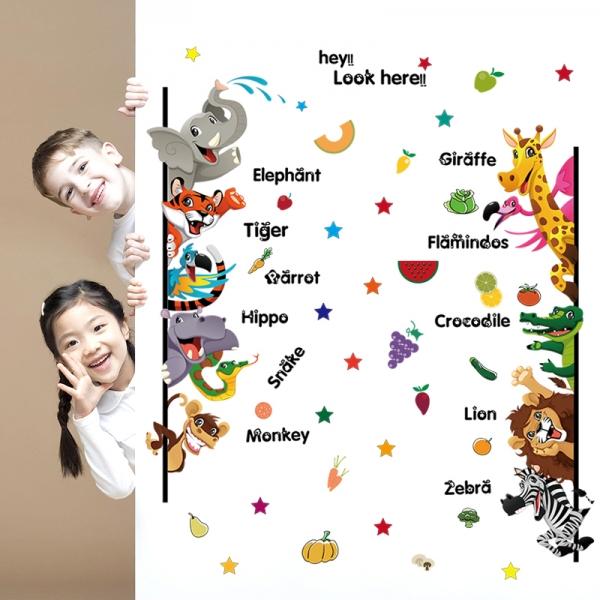 Stickere pentru copii - Animale,legume, fructe (in engleza) 3