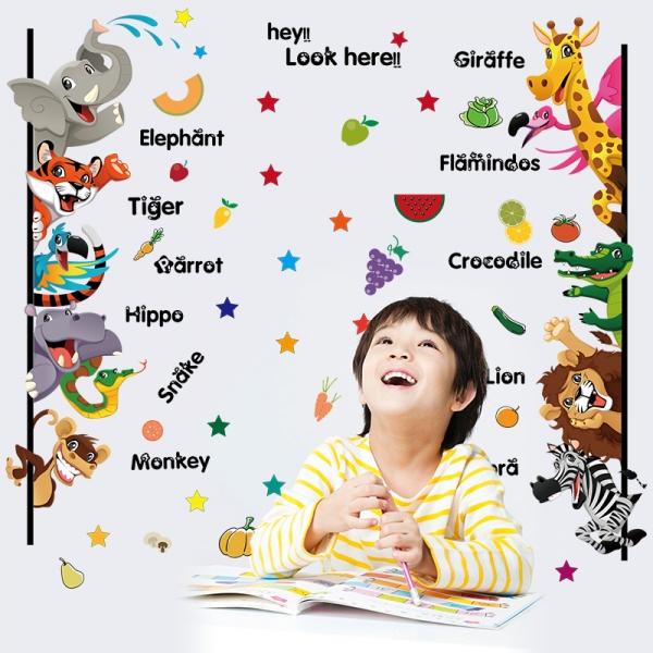 Stickere pentru copii - Animale,legume, fructe (in engleza) 5