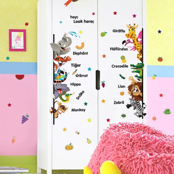 Stickere pentru copii - Animale,legume, fructe (in engleza) 4