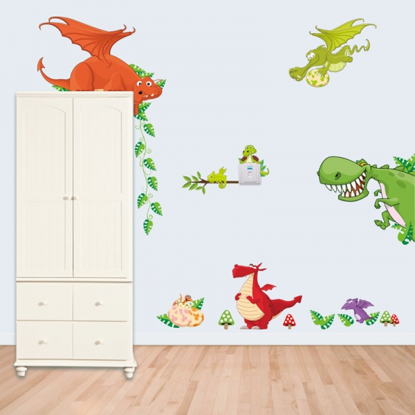 Stickere pentru copii  - Dragoni jucausi 4
