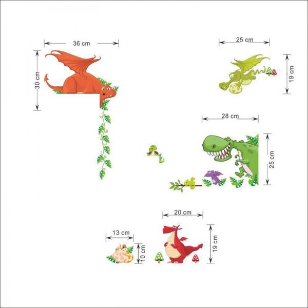 Stickere pentru copii  - Dragoni jucausi 3