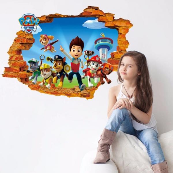 Stickere pentru copii - Patrula catelusilor - 50x70 cm 2