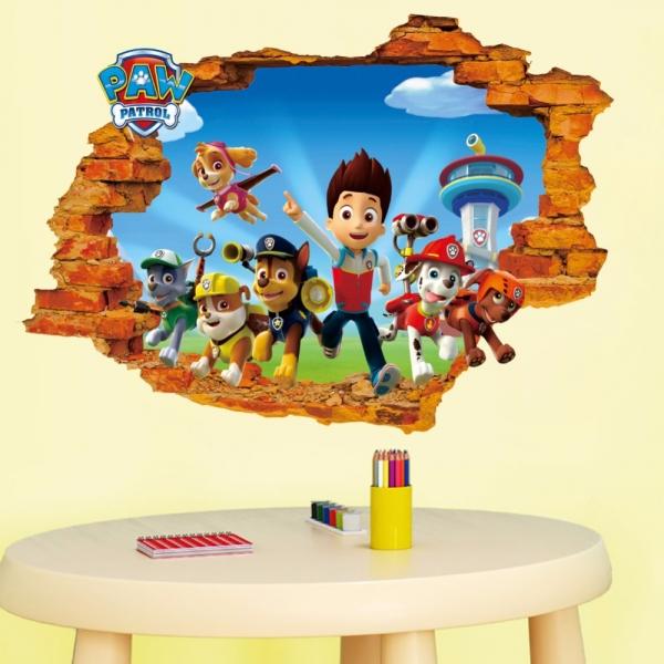 Stickere pentru copii - Patrula catelusilor - 50x70 cm 1