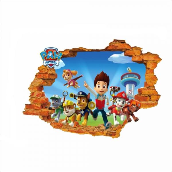 Stickere pentru copii - Patrula catelusilor - 50x70 cm 4