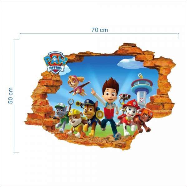 Stickere pentru copii - Patrula catelusilor - 50x70 cm 3