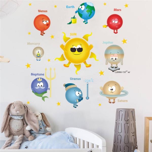 Stickere pentru copii - Planete si soare - 65x65 cm 3