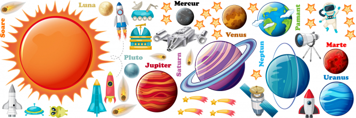 Sticker educativ - Sistemul solar - Planete 0