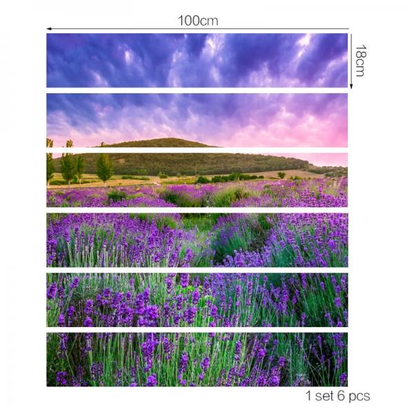 Stickere pentru trepte - Lan de lavanda - 6 folii de 18x100 cm [3]