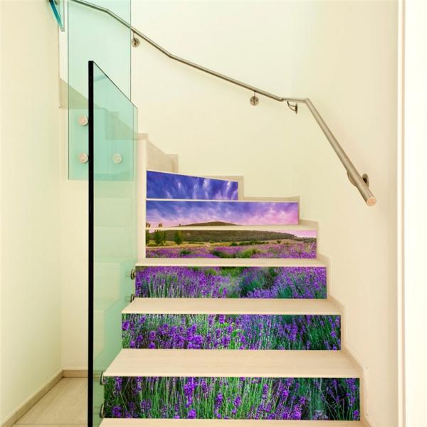 Stickere pentru trepte - Lan de lavanda - 6 folii de 18x100 cm [1]