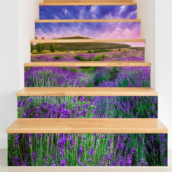 Stickere pentru trepte - Lan de lavanda - 6 folii de 18x100 cm [0]
