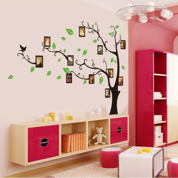 Stickere perete pentru camera de zi - Copac cu rame foto 0
