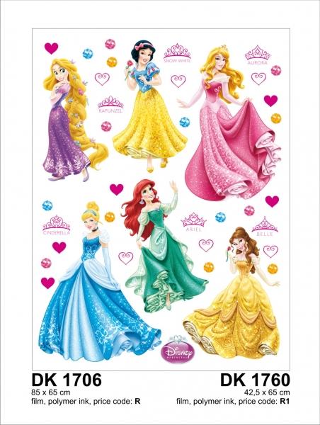 Sticker Printese Disney - 65x85cm - DK1706 1