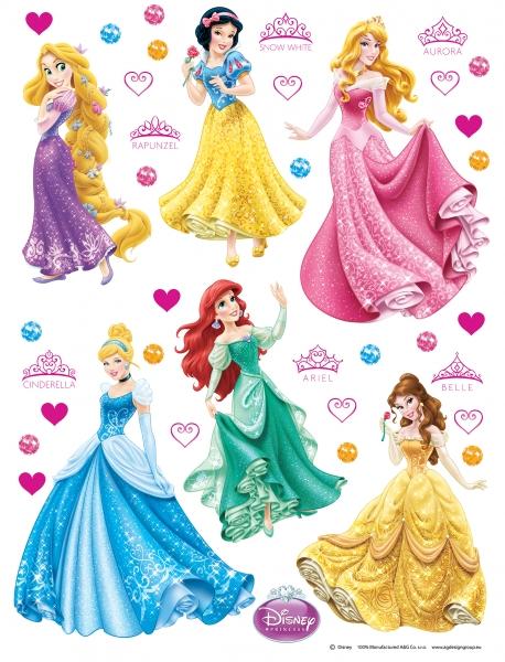 Sticker Printese Disney - 65x85cm - DK1706 0