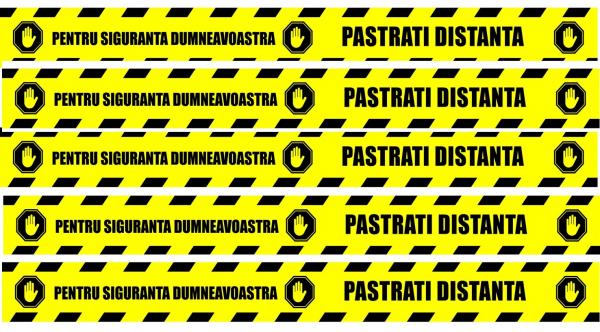 Stickere Podea - Preventie COVID - Pastrati Distanta - Set 5 BUC - 94x10 cm 0