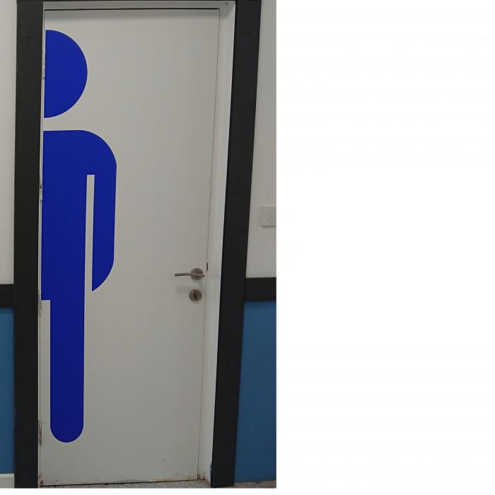 Sticker Indicator Toaleta - Barbati 1