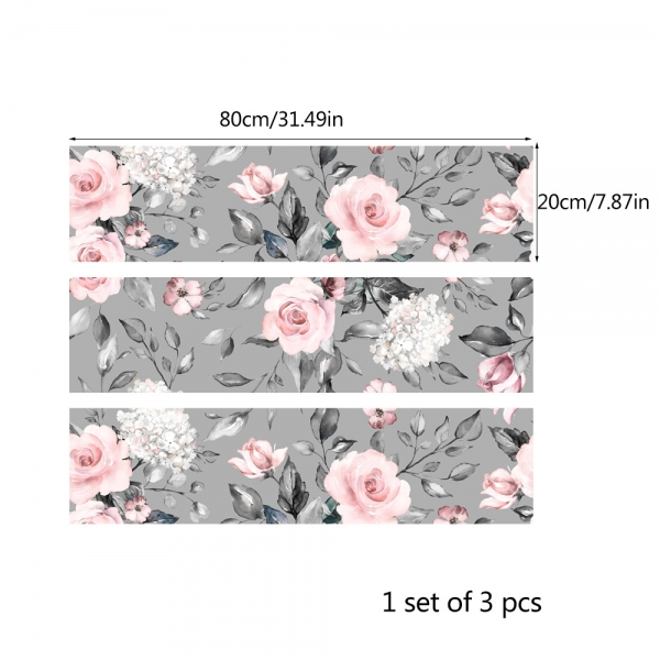 Stickere pentru mobila - Trandafir Roz - 20x80 cm x 3 bucati 4