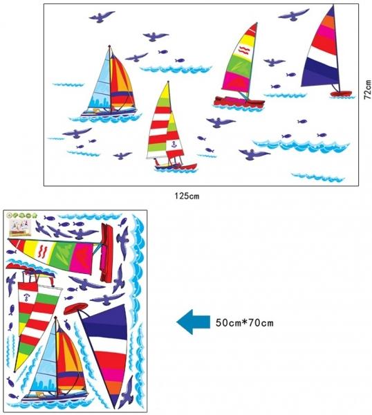 Autocolant pentru copii - Barcute pe apa 4
