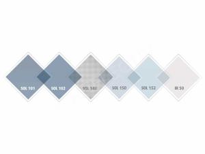 SOL 101 Folie argintiu deschis Interior, Protectie solara 75%, 1000 x 1520 mm2