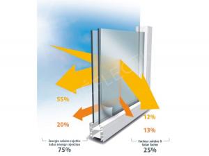 SOL 101 Folie argintiu deschis Interior, Protectie solara 75%, 1000 x 1520 mm1
