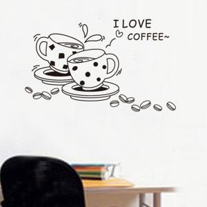 Autocolant bucatarie - Cesti de cafea1