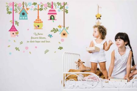 Autocolant camera bebe - Casute pentru pasari [2]
