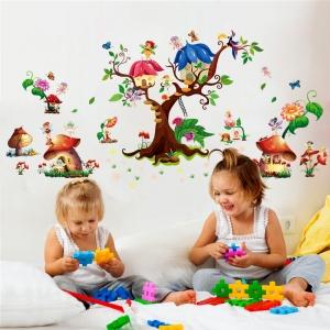 Autocolant copii - Lumea zanelor - 140x65 cm2