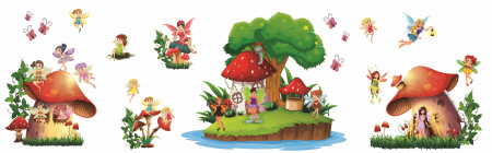 Stickere copii - Lumea zanelor - 160x50 cm1