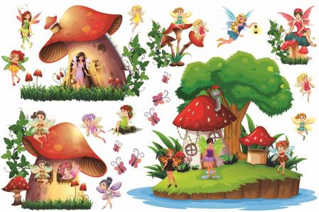 Stickere copii - Lumea zanelor - 160x50 cm0