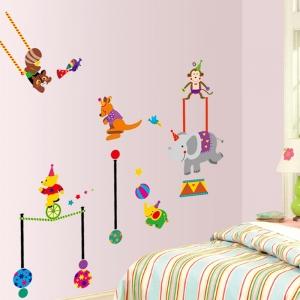 Autocolant de perete copii - Animalute la circ2