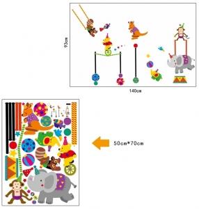 Autocolant de perete copii - Animalute la circ4