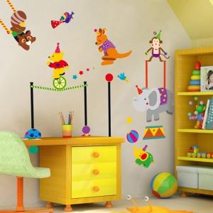 Autocolant de perete copii - Animalute la circ3