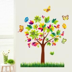 Autocolant de perete pentru copii - Copacelul fermecat0