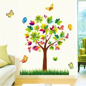 Autocolant de perete pentru copii - Copacelul fermecat2