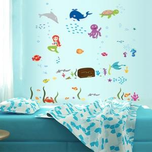 Autocolant decorativ camere copii - Lumea sirenei5