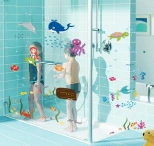 Autocolant decorativ camere copii - Lumea sirenei1