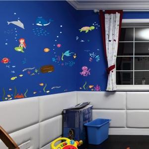 Autocolant decorativ camere copii - Lumea sirenei4
