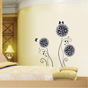 Autocolant decorativ - Flori si fluturi4