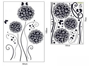 Autocolant decorativ - Flori si fluturi6