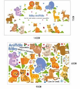 Autocolant decorativ pentru copii - Pui de animale6