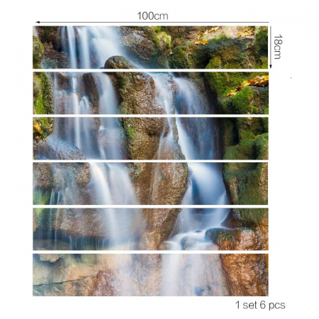 Sticker Scari - Cascada si Stanci - 6 folii de 18x100 cm3
