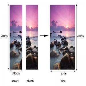 Autocolant usa - Apus violet - 2 folii de 38,5x200 cm5