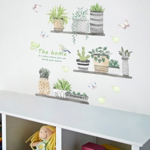 Stickere decorative - Rafturi cu plante - 60x65 cm2