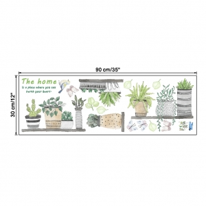 Stickere decorative - Rafturi cu plante - 60x65 cm4