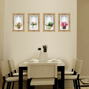 Stickere camera de zi - Aranajamente florale 3D - 122x44 cm [4]
