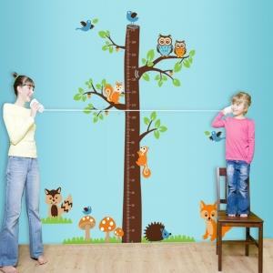 Autocolante camere bebelusi - Masurator de inaltime - Copacul din padure3